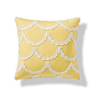 Scalloped Overlay Outdoor Pillow