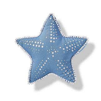 Starfish Outdoor Pillow in Air Blue