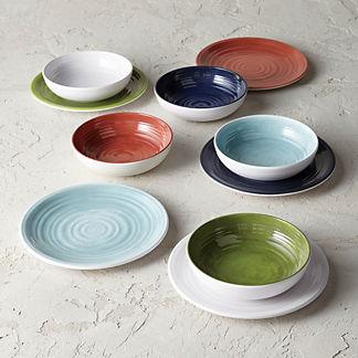 Alfresco Melamine Dinner Plates, Set of Four
