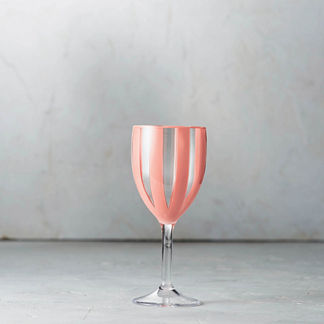 Riviera Striped Acrylic Wine Glasses, Set of Six