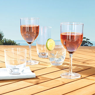 Classic Acrylic Double Old Fashioned, Set of Six