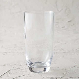 Classic Acrylic Highball Glasses, Set of Six