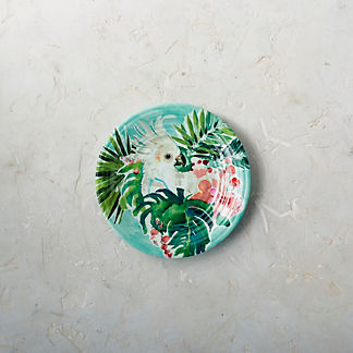 Tropical Paradise Melamine Salad Plates, Set of Four