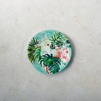 Tropical Paradise Melamine Salad Plates, Set of Four