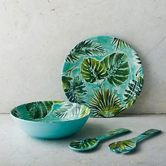 Tropical Paradise Melamine Serving Set