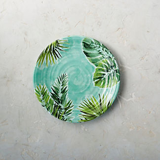 Tropical Paradise Melamine Dinner Plates, Set of Four