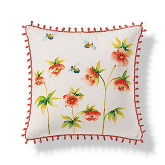 Handpainted Wildflowers Outdoor Pillow
