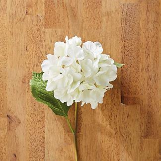 Faux White Hydrangea Stems, Set of Six