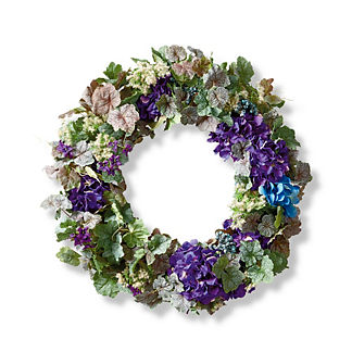 Purple Hydrangea and Berry Wreath
