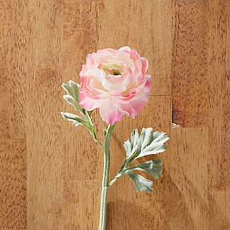 Faux Pink Ranunculus Stems, Set of 12