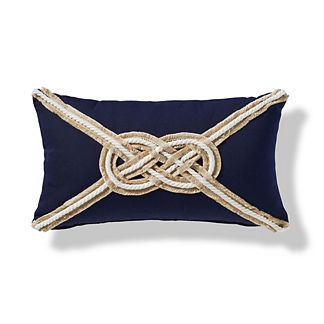 Carrick Bend Knot Outdoor Pillow