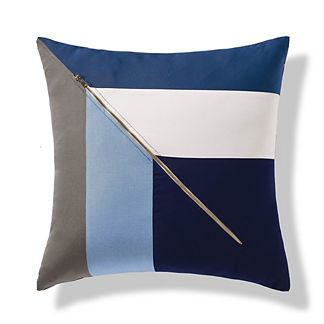 Diagonal Zipper Indoor/Outdoor Pillow