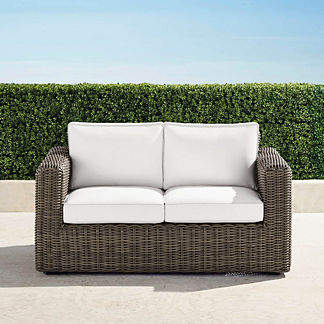 Small Vista Loveseat with Cushions, Special Order