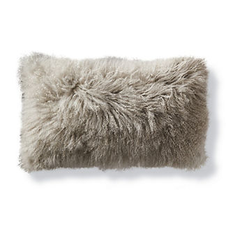 Mongolian Fur Decorative Lumbar Pillow Cover