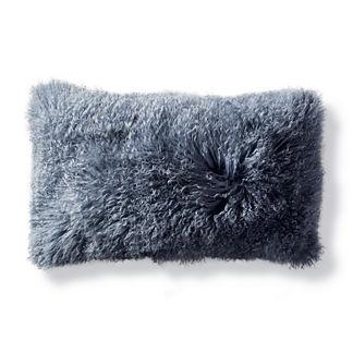 Mongolian Fur Lumbar Decorative Pillow Cover