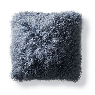 Mongolian Fur Square Decorative Pillow Cover