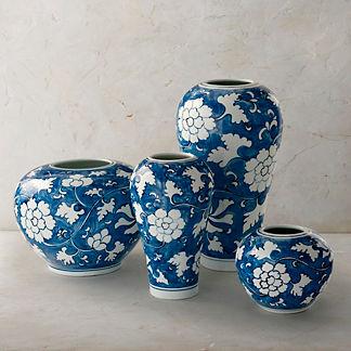 Ancient Blue Ceramics, Set of Four