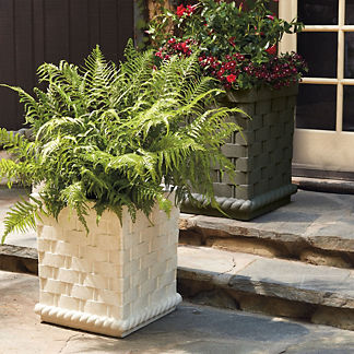 Brooks Basketweave Planter