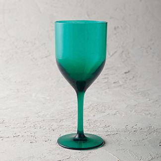 Classic Acrylic Wine Glasses, Set of Six
