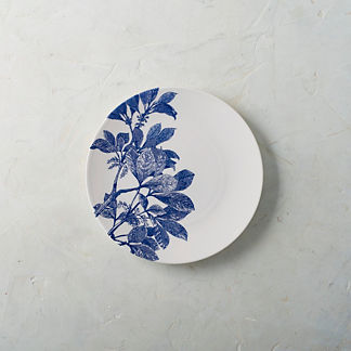 Spring Floral Bloom Salad Plates, Set of Four