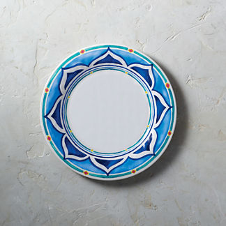 Mira Melamine Dinner Plates, Set of Four