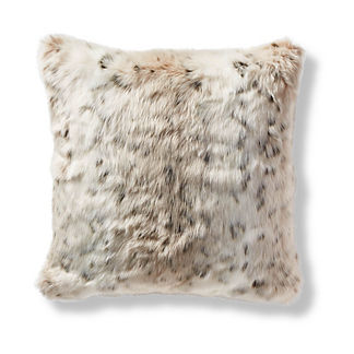 Luxury Faux Fur Pillow Cover in Lynx