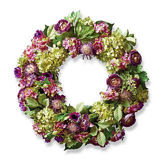 Purple Anemone Wreath