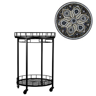 KNF Grigio Round Serving Cart