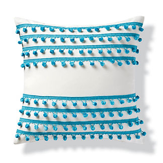 Pom Pom Lines Indoor/Outdoor Pillow