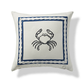 Bay Blue Crab Decorative Pillow