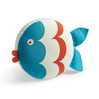 Kissing Fish Indoor/Outdoor Pillow