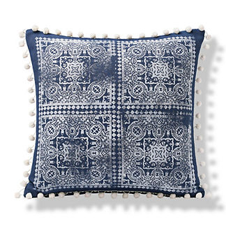 Moroccan Block Print Indoor/Outdoor Pillow