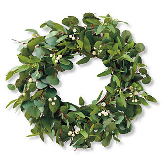 Eucalyptus White Berry Wreath