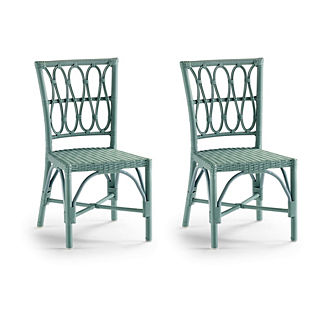 Set of Two Myla Dining Side Chairs in Sage Finish