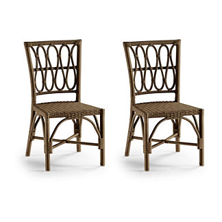 Set of Two Myla Dining Side Chairs in Umber Finish