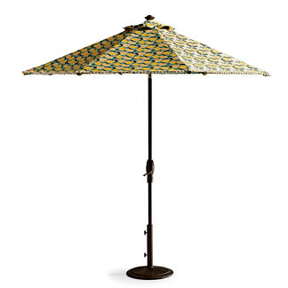 9' Lemon Designer Umbrella Canopy