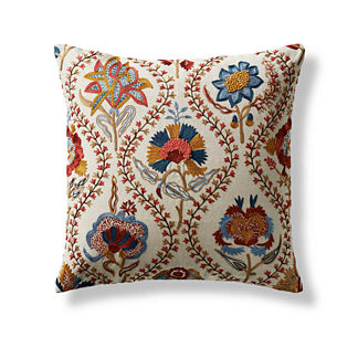 Illustrated Floral Decorative Pillow Cover