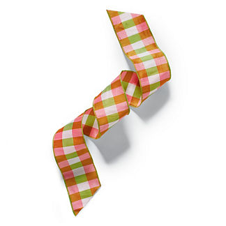 Checkered Faux Dupion Ribbon