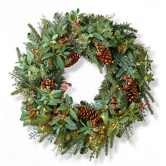 Stonington Cordless Outdoor Wreath