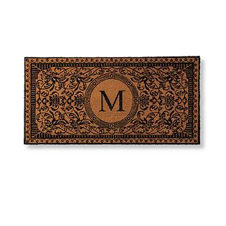 Mille Flores Monogrammed Coco Door Mat