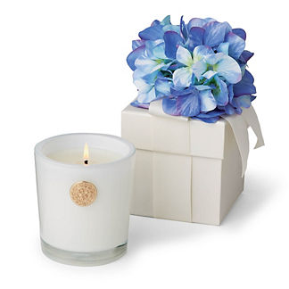Lux Blue Hydrangea 14 oz. Candle in Gift Box