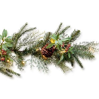 Stonington Cordless Outdoor 9 ft. Flex Garland