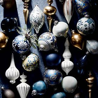 48-piece Indigo Dreams Ornament Collection