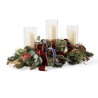 Roman Christmas Indoor Candle Centerpiece