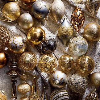 60-piece Precious Metals Ornament Collection