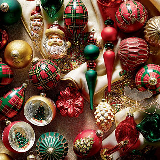 48-piece Holiday Glen Ornament Collection