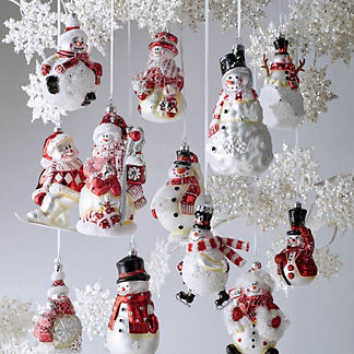 Snowman Ornament Collection, Set of 12