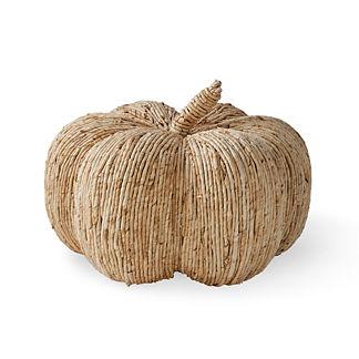Large Straw Rustic Pumpkin