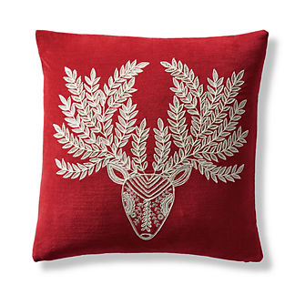 Nordic Reindeer Decorative Pillow Cover