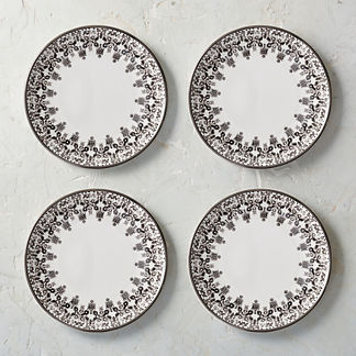 Tofino Melamine Dinner Plates, Set of Four